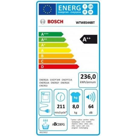 Bosch Asciugatrice a condensazione - Wtw85448it