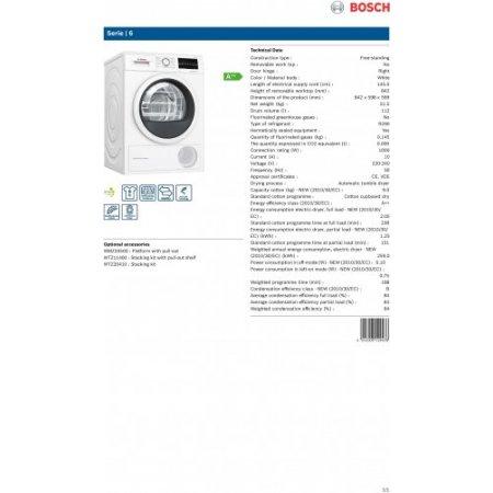 Bosch Asciugatrice a condensazione - Wtw85449it