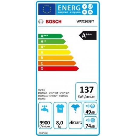 Bosch Lavatrice carica frontale 8 kg. - Wat28638it