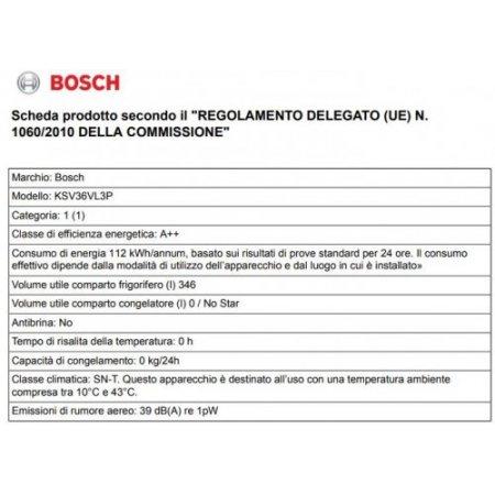 Bosch Frigorifero 1p - Ksv36vl3p