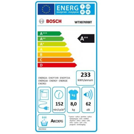 Bosch Asciugatrice a condensazione - Wtx87kr8it