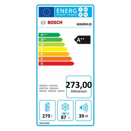 Bosch Frigo combinato 2 porte no frost - Kgn39vl35