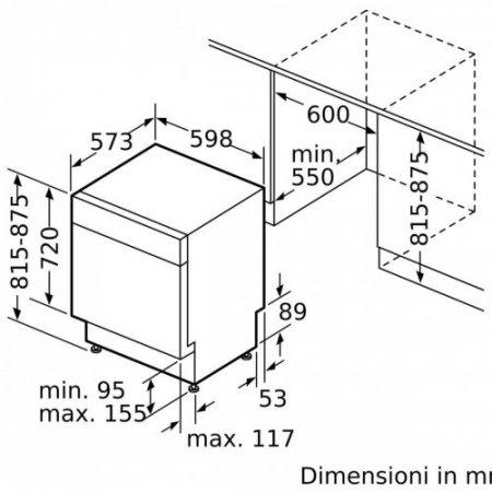 Bosch Lavastoviglie incasso 13 coperti - Smu4has48e