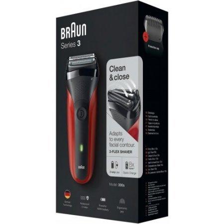 Braun - 300 serie3  Nero-rosso