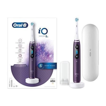 Braun 6 Velocità - 6 Modalità di spazzolamento - ORAL-B iO Series 8 Violet Ametrine