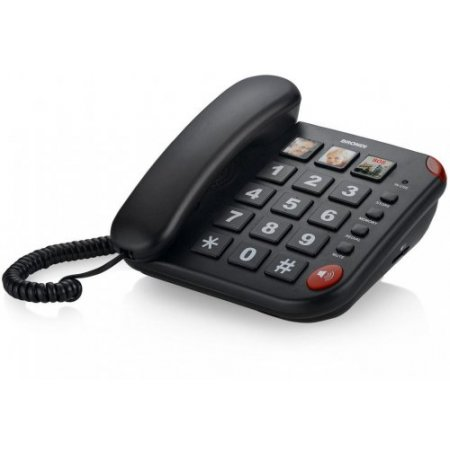 Brondi Telefono a filo - Bravo 15  Nero