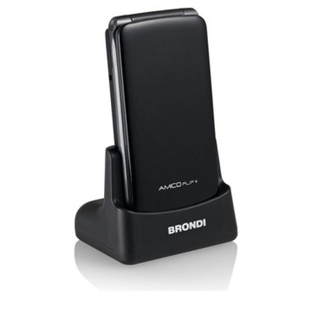 Brondi Telefono cellulare - Amico Flip+ Nero