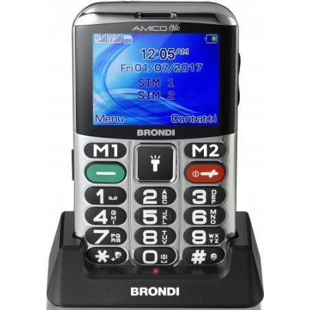 Brondi Cellulare quadband gsm - Amico Chic Silver