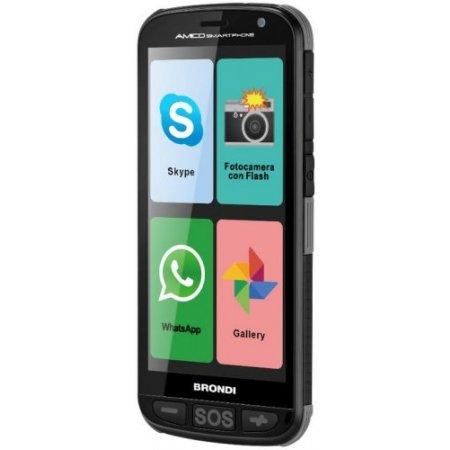 Brondi Smartphone 4 gb ram 0.5 gb. quadband - Amico Smartphone Nero