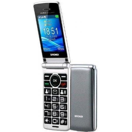Brondi Cellulare dualband gprs/gsm - Amico Sincero Grigio