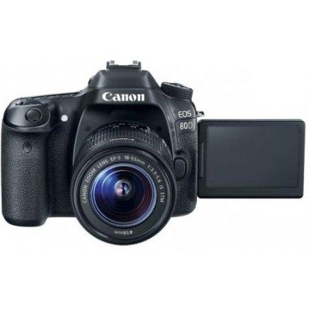 Canon Fotocamera reflex - Eos 80d + 18-55mm Stm Is Nero