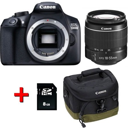 Canon - Eos 1300D +EF-S 18-55 DC III +Borsa +Scheda SD 8GB