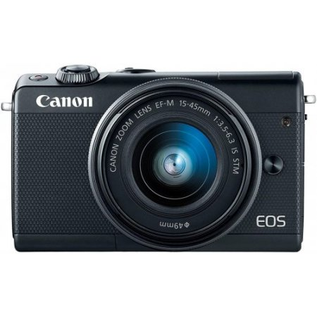 Canon Fotocamera mirrorless - Eos M100 + 15-45mm Nero