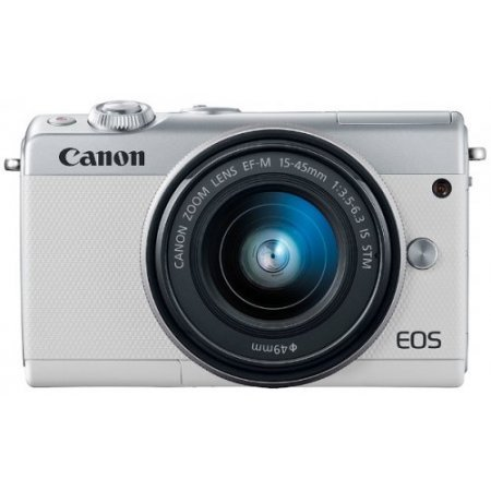 Canon Fotocamera mirrorless - Eos M100 + 15-45mm Bianco