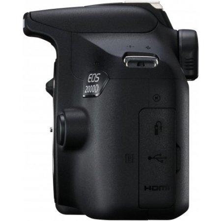 Canon Fotocamera reflex - Eos 2000d + obiettivo Ef-s 18-55 Mm Is II Nero