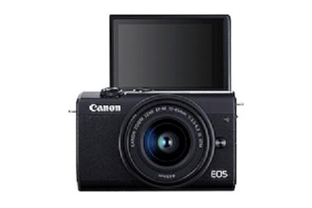 Canon Fotocamera Mirrorless + obiettivo - Eos M 200 Bk +ef M 15-45 Value Up K