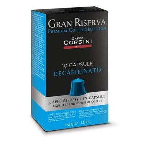 Caffe'Corsini 10 Capsule monodose - 10 Capsule Compatibili Nespresso Gran Riserva Decaffeinato - Dcc432
