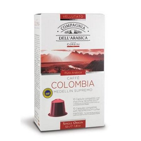 Caffe'Corsini Confezione di 10 capsule - 10 Capsule Colombia Compatibili Nespresso - Dco004