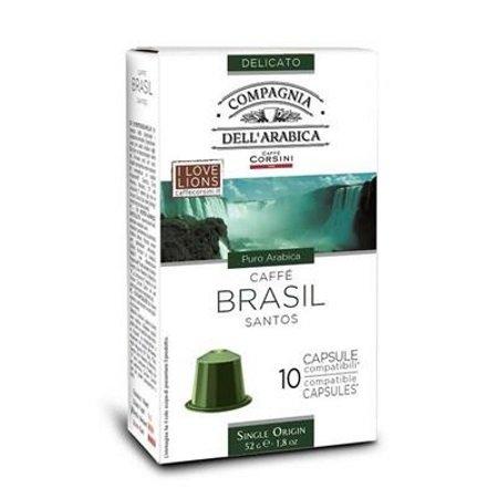 Caffe'Corsini Confezione di 10 capsule - Capsule Brasil Compatibili Nespresso - Dba403