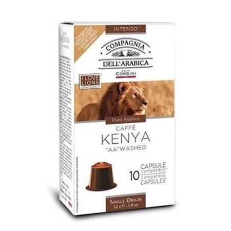 Caffe'Corsini Confezione di 10 capsule - 10 Capsule Kenya Compatibili Nespresso - Dke402