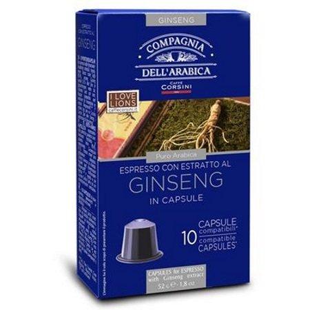 Caffe'Corsini Confezione di 10 capsule - 10 Capsule Ginseng Compatibili Nespresso - Dcc466