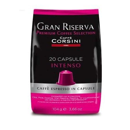 Caffe'Corsini Confezione di 20 capsule - 20 Capsule Compatibili Nespresso Intenso Gran Riserva - Dcc180