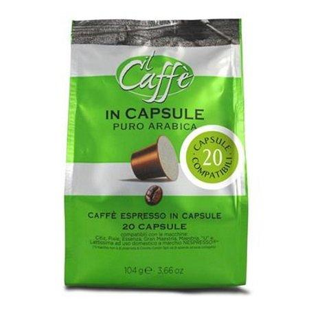 Caffe'Corsini Confezione di 20 capsule - 20 Capsule Compatibili Nespresso Puro Arabica - Dcf341