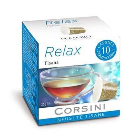 Caffe'Corsini - Confezione 10 capsule Tisana Relax - Dcc176