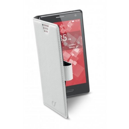 "Cellular Line Custodia smartphone fino 5.4 "" - Bookuni3 Xxxl Bookuni3 Bianco"