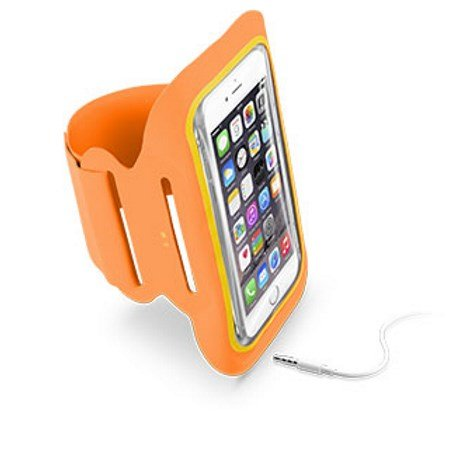 Cellular Line In microfibra; Ultra comfort - ARMBAND FITNESS Orange