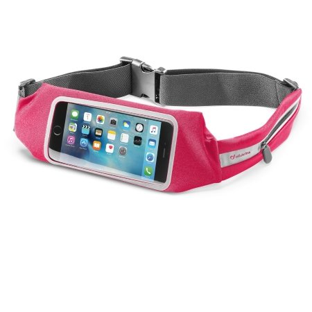 Cellular Line Fascia sport ultrasottile per smartphone e oggetti - Cintura Sport Waistbandviewp Rosa