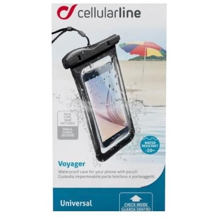 Cellular Line Custodia Impermeabile  fino a 20 m - Custodia Impermeabile Voyager16k Nero