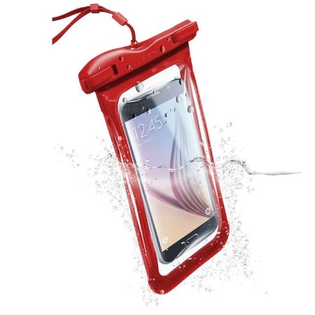 Cellular Line Custodia Impermeabile fino a 20 m - Custodia Impermeabile Voyager16r Rosso