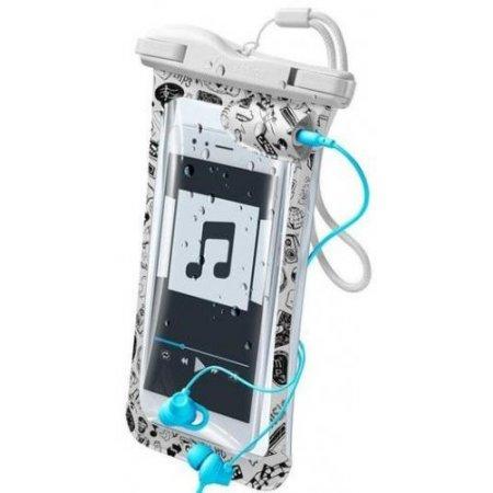 Cellular Line Custodia smartphone - Voyagermusic18w Bianco