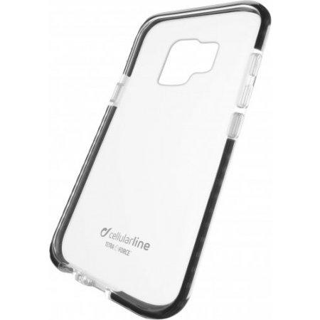 """Cellular Line Cover smartphone fino 5.8 """" - Tetracgals9k Trasparente-nero"""