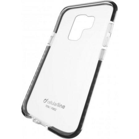 """Cellular Line Cover smartphone fino 6.2 """" - Tetracgals9plk Trasparente-nero"""