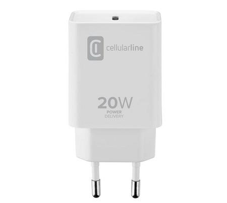 Cellular Line Caricabatterie da rete USB-C 20W