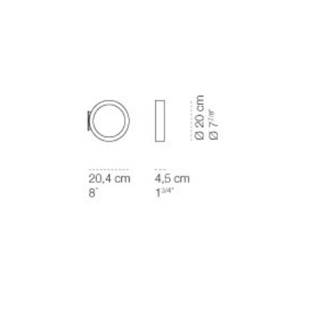 Cini & Nils Lampada Parete/Soffitto - Assolo Diametro 20 16w Led 1600lm