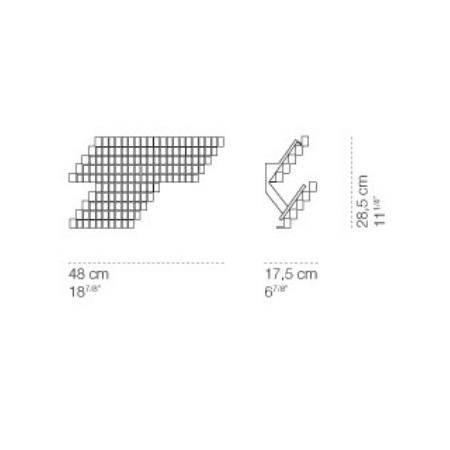 Cini & Nils Lampada da parete - Cubismo Corta Parete 24w Led 3000k