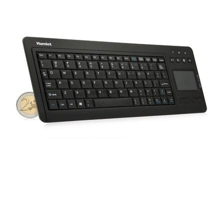 HAMLET Tastiera Wireless con Touchpad - XRFKEYPADTV