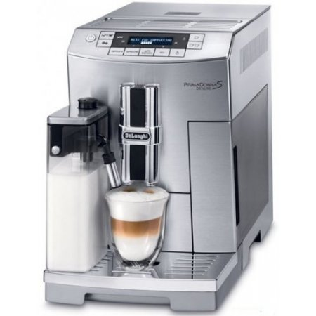 Delonghi Macchina caffe' espresso - Primadonna S De Luxe Ecam26.455.m Alluminio