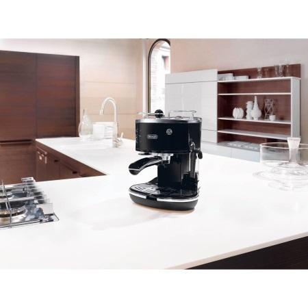 De Longhi Macchina del caffè con caldaia in acciaio inox - Icona Eco311.Black