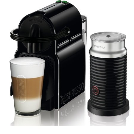 DE LONGHI Macchina da caffè a capsule - Nespresso Inissia Black +Aeroccino