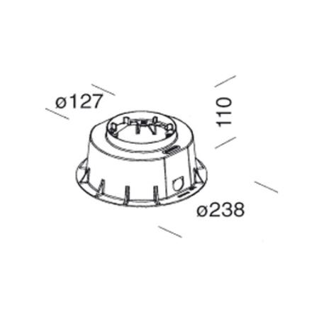 Disano 99392500 - Acc. 313 - Controcassa per MicroFloor
