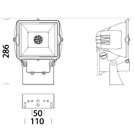 Disano Proiettore da Esterno - 41375300 - Punto 1131  Led COB