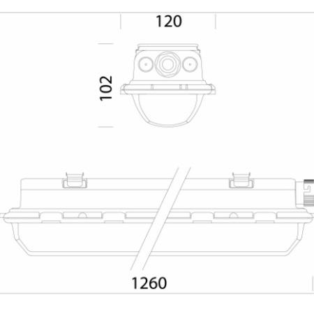 Disano 16475400 - Hydro 960 LED 37W - Armatura Stagna