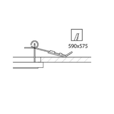 Disano 99801700 Acc. 906 - kit molle pannello led  fissaggio incasso cartongesso