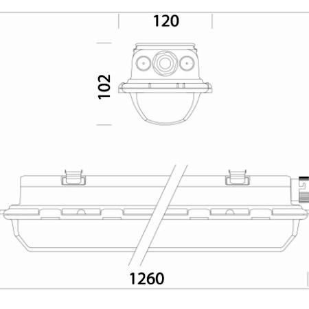 Disano 16476400 - Hydro 963 LED 34W - Armatura Stagna