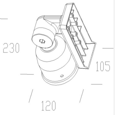 Disano Accessorio fissaggio a palo - 42091500 - Snodo Vega Nero