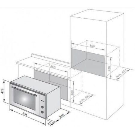 Delonghi Forno elettrico - Slm90